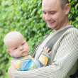 Stock Photo: Baby and father