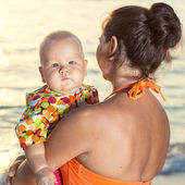 Baby and mother — Stock Photo