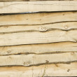 Fence structure from wooden boards — Stock Photo