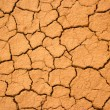 Texture of the crackled red clay — Stock Photo
