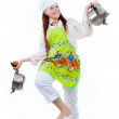 Dance with pans — Stock Photo