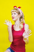 Image pin up girl — Stock Photo