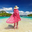 Woman at the beach — Stock Photo