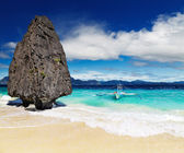 Tropical beach, El Nido, Philippines — Stock Photo
