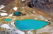 Emerald Lakes, New Zealand — Stock Photo