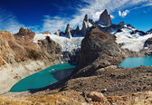 Laguna de Los Tres and Laguna Sucia — Stock Photo