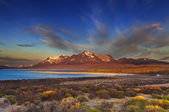Sarmiento lake, Torres del Paine — Stock Photo
