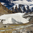 Melting glacier in Siberian mountains — Stock Photo