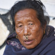 Elderly nepali woman — Stock Photo