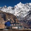 Lofty mountains, view from Annapurnbase camp — Stock Photo #28215417