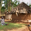 Traditional african hut — Stock Photo