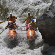 Rafting competition — 图库照片