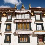 Tibetan monastery — Stock Photo