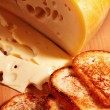 Swiss cheese and toasts — Stock Photo #28216113