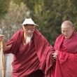 Tibetan monks in Tashilhunpo monastery — Stock Photo
