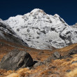 Stock Photo: Mountain landscape, AnnapurnSouth, Himalaya, Nepal
