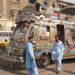 Stock Photo: Pakistani local buses