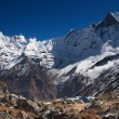 Lofty mountains, Annapurnbase camp — Stock Photo #28216893