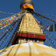 Buddhist temple Bodhnath in Kathmandu, Nepal — Stock Photo