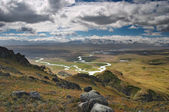 Mountain landscape, Plateau Ukok — Stock Photo