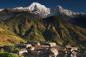 Гималайский деревня, Непал — Стоковое фото