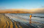 Atlantic coast at sunrise, Luderitz, Namibia — Stock Photo