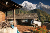 Himalayan village, Nepal — Stock Photo