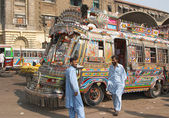 Pakistani local buses — Stock Photo