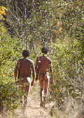 Bushmen hunters, Kalahari Desert, Namibia — Stock Photo