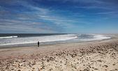 Atlantský oceán, kostra pobřeží, namibie — Stock fotografie