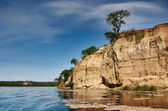 Lake with rocky shore — Stock Photo