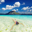 Tropical beach, snorkeling — Stock Photo #33100125
