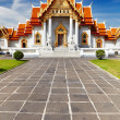 Marble Temple in Bangkok — Stock Photo #35425777