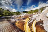 Orakei Korako geotermal valley — Foto Stock