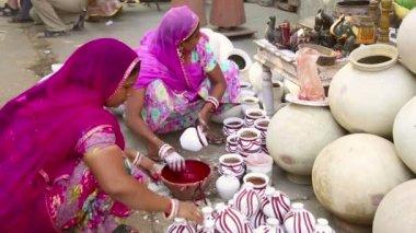 Ceramica indiana — Video Stock