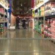 Shopping in supermarket — Stock Video