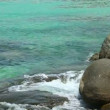 Stock Video: Rocky shore