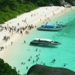 Similan Island beach — Stock Video
