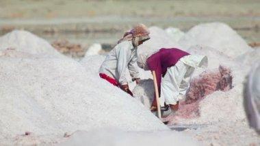 Gruvdrift salt i indien — Stockvideo