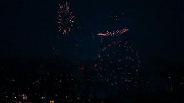 Festive fireworks — Stock Video