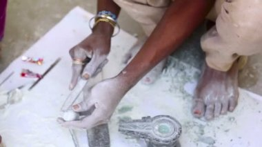 Stone carving — Stock Video