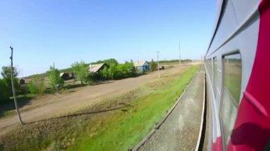 Железнодорожный путь — Стоковое видео