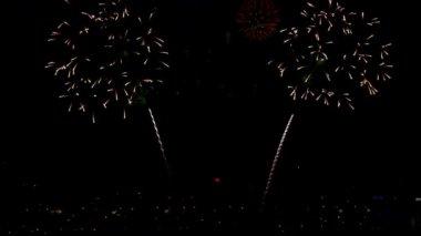Vuurwerk — Stockvideo