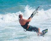 Kite surfing — Stock Photo