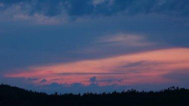 Mountain sunset — Stock Video