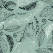 Vector pattern with leafs - 