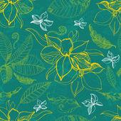矢量花纹与枫叶 — 图库矢量图片