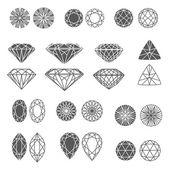 Zestaw diamentów — Wektor stockowy