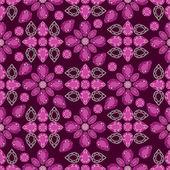 Flowers from diamond design elements — Stock vektor