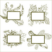 Frames with flowers — Stock Vector
